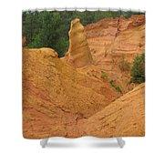 Roussillon Ochres Pigments Rock Shower Curtain