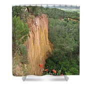 Roussillon Red Rock Landscape Shower Curtain