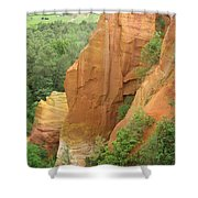 Roussillon - Red Rocks  Shower Curtain