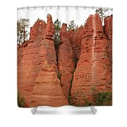Roussillonrockformation Shower Curtain