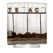 Route 66 - Abandoned Texaco Station Shower Curtain