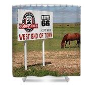 Route 66 - Adrian Texas Shower Curtain
