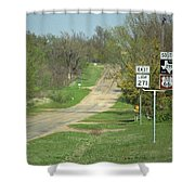 Route 66 - Alanreed Texas Shower Curtain
