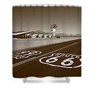 Route 66 - Amboy California Shower Curtain