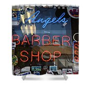 Route 66 - Angel's Barber Shop Shower Curtain