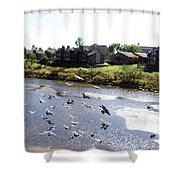Route 66 At Arkansas River Shower Curtain