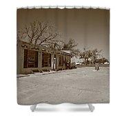 Route 66 - Bent Door Cafe Shower Curtain