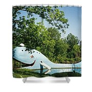 Route 66 Blue Whale Waterpark Shower Curtain