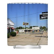 Route 66 - Boots Motel Shower Curtain