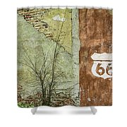 Route 66 Brick And Mortar Shower Curtain