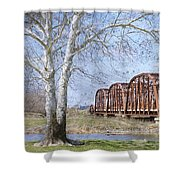 Route 66 Bridge Shower Curtain