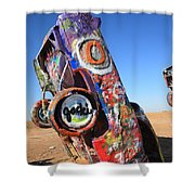 Route 66 Cadillac Ranch Shower Curtain