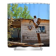 Route 66 Carcus Shower Curtain