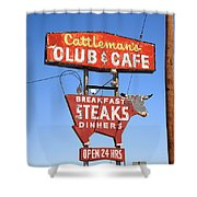 Route 66 - Cattleman's Club And Cafe Shower Curtain