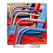 Route 66 Chairs Shower Curtain