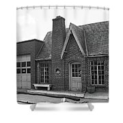 Route 66 - Chandler Oklahoma Gas Station Shower Curtain