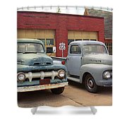 Route 66 Classic Cars Shower Curtain