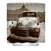 Route 66 - Classic Chevy Shower Curtain