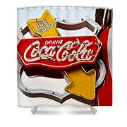 Route 66 Coca Cola Shower Curtain