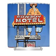 Route 66 - Cowboy Motel Shower Curtain