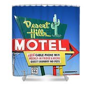 Route 66 - Desert Hills Motel Shower Curtain