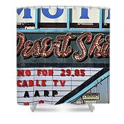 Route 66 - Desert Skies Motel Shower Curtain