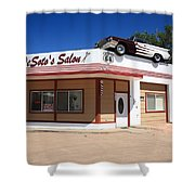 Route 66 - Desoto's Salon Shower Curtain