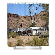 Route 66 - Ed's Camp Shower Curtain