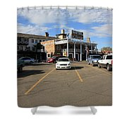 Route 66 - El Rancho Hotel Shower Curtain