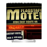 Route 66 Flagstaff Motel Shower Curtain
