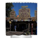 Route 66 Gift Shop Disneyland Shower Curtain