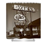 Route 66 - Glancy Motel Shower Curtain