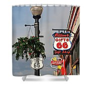 Route 66 In Williams Arizona Shower Curtain