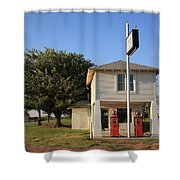 Route 66 - Lucilles Gas Station Shower Curtain