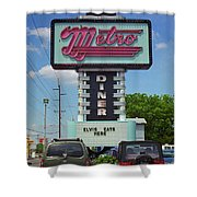 Route 66 - Metro Diner Shower Curtain