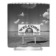 Route 66 - Midpoint Sign Shower Curtain