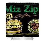 Route 66 Miz Zips Shower Curtain