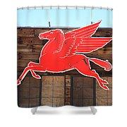 Route 66 - Mobil Pegasus Shower Curtain