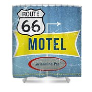 Route 66 Motel Shower Curtain