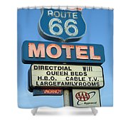 Route 66 Motel Sign 3 Shower Curtain