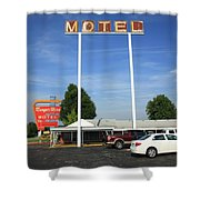 Route 66 - Munger Moss Motel Shower Curtain