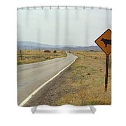 Route 66 - New Mexico Highway Shower Curtain