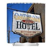 Route 66 - Oatman Hotel Shower Curtain