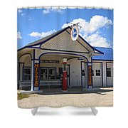 Route 66 - Odell Gas Station 7 Shower Curtain