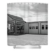 Route 66 - Odell Gas Station Shower Curtain