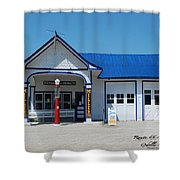 Route 66 Odell Il Gas Station 01 Shower Curtain