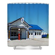 Route 66 Odell Il Gas Station 02 Shower Curtain