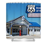 Route 66 Odell Il Gas Station Signage 01 Shower Curtain