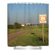 Route 66 - Oklahoma Shower Curtain