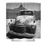 Route 66 - Old Chevy Pickup Shower Curtain